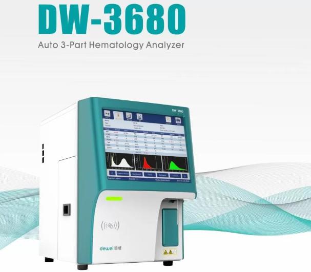 Dewei DW-3680 3 Part Auto CBC Hematology Analyzer